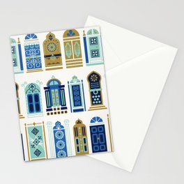 Moroccan Doors – Blue & Gold Palette Stationery Cards