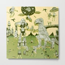 War of the Worlds (man-child edition)...green Metal Print