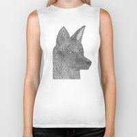coyote Biker Tanks featuring Coyote by Amber Lundy Leigh