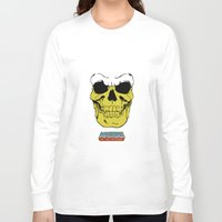 skeletor Long Sleeve T-shirts featuring Skeletor by Dukesman