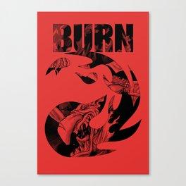 "BERNI MTG ""BURN"" Canvas Print"