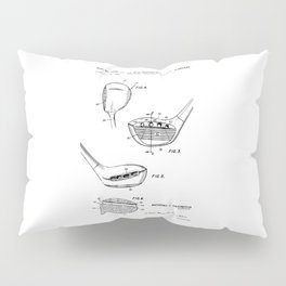 patent art Antonious Golf Club of the wood type 1969 Pillow Sham