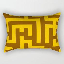 Amber Orange and Chocolate Brown Labyrinth Rectangular Pillow