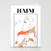 haim Stationery Cards featuring Danielle Haim by chazstity