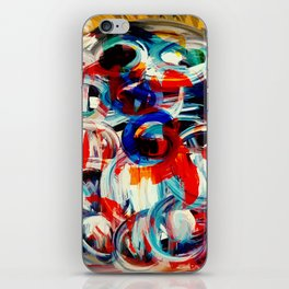 Abstract Action American Painting iPhone Skin