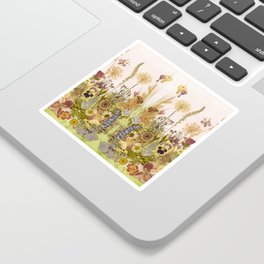 Pink Garden mirrored Sticker