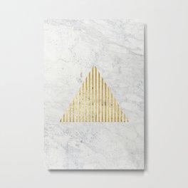 Trian Gold Metal Print