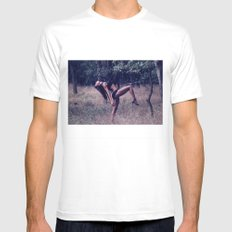 Dancing at the secret beach MEDIUM White Mens Fitted Tee