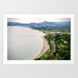 The view from Killiney Hill looking south towards Bray. Art Print