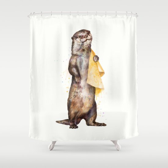otter shower curtainlaura graves | society6