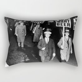 We Want Beer Prohibition Rectangular Pillow