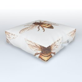 Queen Bee Outdoor Floor Cushion