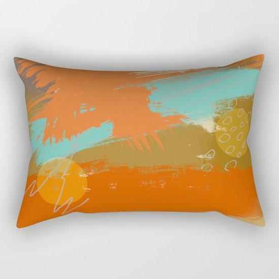Secret Places, Abstract Landscape Art Rectangular Pillow