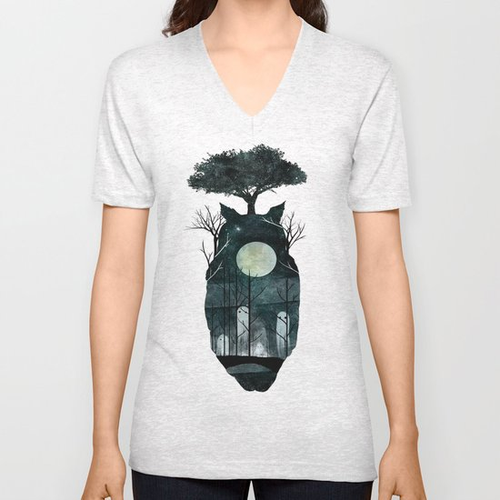 March of the Forest Spirits Unisex V-Neck
