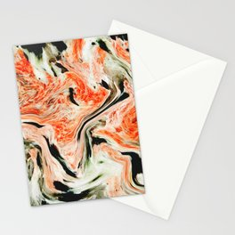 White Golden Orange Marble Texture Pattern Cutest Stationery Cards
