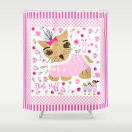 Didi puff Shower Curtain
