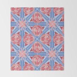 Pink Panther Pattern Throw Blanket