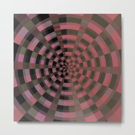 Hipnotic pink flow Metal Print