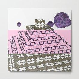 Pyramide Grotesque 11 mix Metal Print