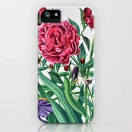 Iris and peonies iPhone Case