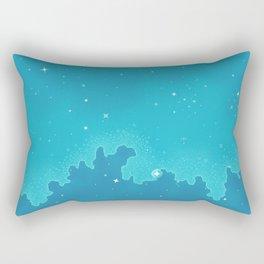 Aqua Pixel Skyscape Rectangular Pillow