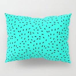 Strawberry Seeds | Teal Pillow Sham
