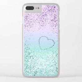 Sparkling MERMAID Girls Glitter Heart #1 #decor #art #society6 Clear iPhone Case