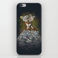 teen titans iPhone & iPod Skins featuring CLASH OF THE TITANS  by Peter Kramar