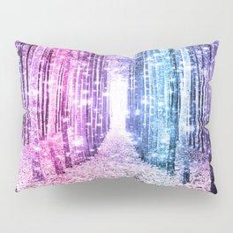 Magical Forest : Pastel Pink Lavender Aqua Periwinkle Ombre Pillow Sham