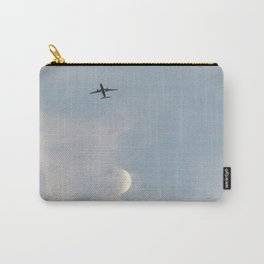 Airplane and the moon Carry-All Pouch