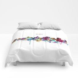 Madison Skyline Silhouette Comforters
