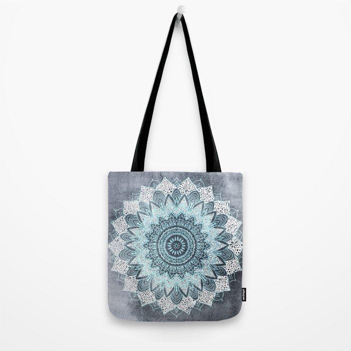 BOHOCHIC MANDALA IN BLUE Tote Bag