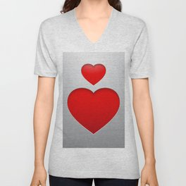 Valentines's Day Heart Unisex V-Neck