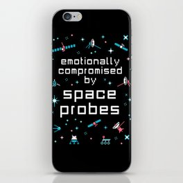 Emotionally Compromised by Space Probes iPhone Skin