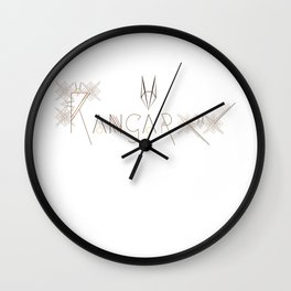 Kangaroo Letterform and Pattern Combo Wall Clock