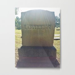 'Loveless' Headstone (Grove Hill Cemetery, Dallas, TX) Metal Print