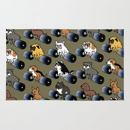 5 plates deadlift Puppies Rug