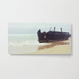 Fraser Island Shipwreck - SS Meheno Metal Print