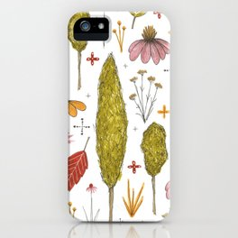 autumn in my yard iPhone Case