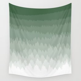 Green Ombré Forest Wall Tapestry