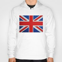 union jack Hoodies featuring Union Jack by GoldTarget