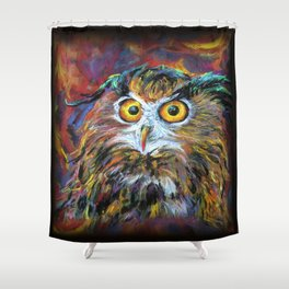 That gril is in fair! Shower Curtain