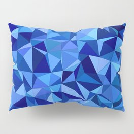 Blue tile mosaic Pillow Sham