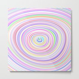 Colorful ripples Metal Print