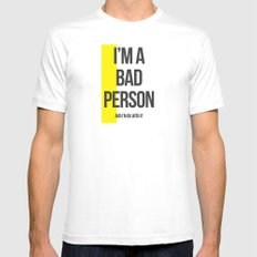 Bad Person MEDIUM White Mens Fitted Tee