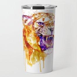 Angry Lioness Travel Mug