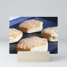 Hexagonal Biscuit Bread on the cooking sheet Photography Mini Art Print