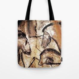 Facing Horses // Chauvet Cave Art Tote Bag