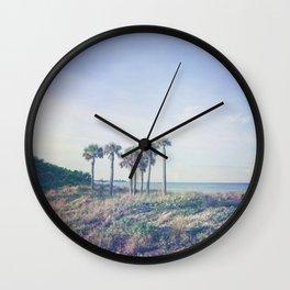 Seven Palm Trees Wall Clock