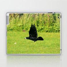 black crow in flight Laptop & iPad Skin